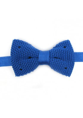 Men trendy silk knitted bow tie  GUERRIERI