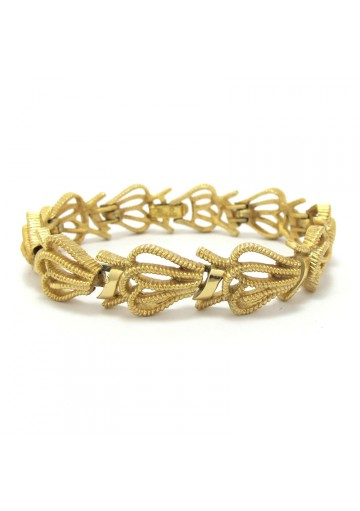 Women vintage bracelet with abstract links TRIFARI