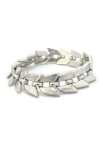 Vintage bracelet with geometrical links TRIFARI