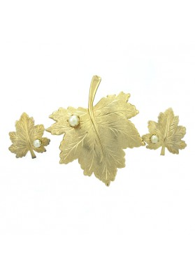 Vintage parure WHISPERING LEAF SARAH COVENTRY