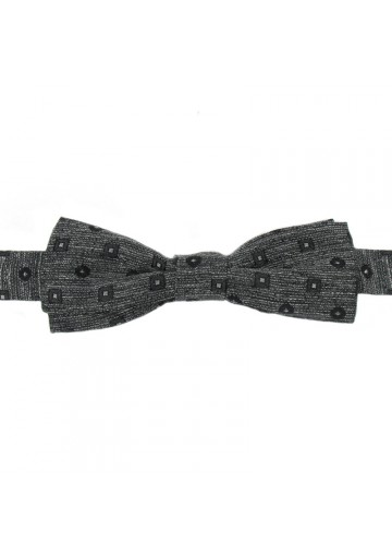 Batwing bow tie from grey silk GUERRIERI