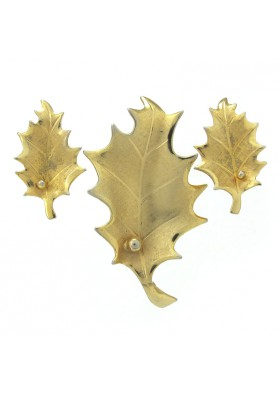 Vintage parure OAK LEAVES GIOVANNI