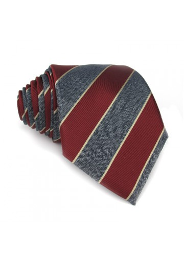 Tie silk regimental MOSCHINO