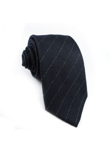 Tie wool silk striped GUY LAROCHE