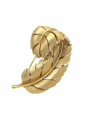 Vintage brooch CURVED LEAF TRIFARI