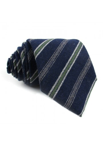 Tie wool silk stripes MOSCHINO