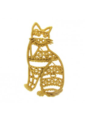 Vintage brooch CAT AJC