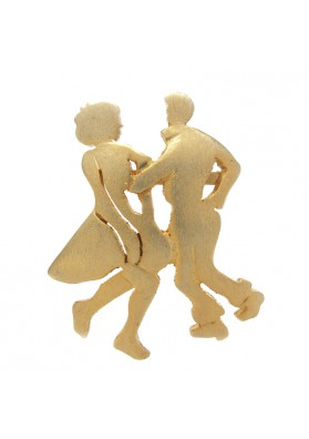 Vintage brooch COUPLE ULTRA CRAFT