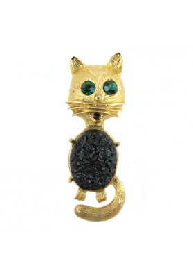 Vintage brooch CAT USA