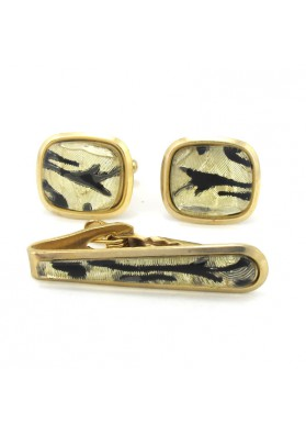 Vintage cufflinks tie bar USA
