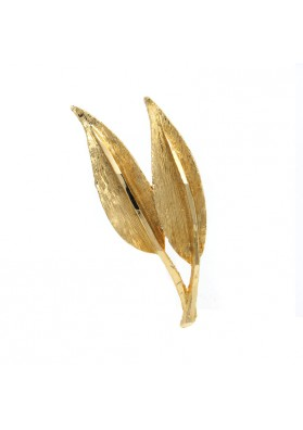 Vintage brooch TWO LEAVES USA