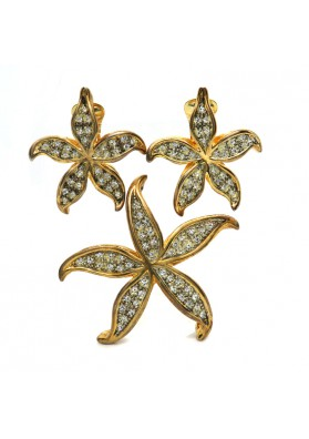 Brooch and earrings  DE LIGUORO